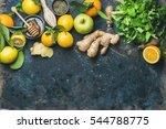 ingredients for making flu... | Shutterstock . vector #544788775