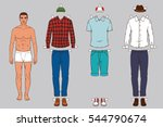 paper doll of the man with... | Shutterstock .eps vector #544790674