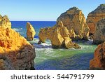 clifs and seashore  algarve ... | Shutterstock . vector #544791799