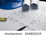 architectural plans project... | Shutterstock . vector #544802029