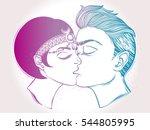 hand drawn beautiful artwork of ... | Shutterstock .eps vector #544805995