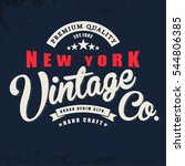 vintage denim print for t shirt ... | Shutterstock .eps vector #544806385