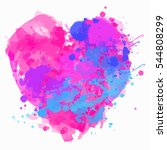 happy valentine's day. vector...   Shutterstock .eps vector #544808299