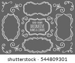 collection of cute hand drawn... | Shutterstock .eps vector #544809301