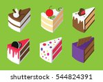 colorful sweet cakes  | Shutterstock .eps vector #544824391