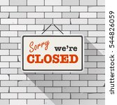 simple white sign with text ... | Shutterstock .eps vector #544826059