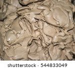 wet white clay closeup.... | Shutterstock . vector #544833049