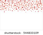 colorful background with heart... | Shutterstock .eps vector #544833109