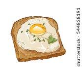light breakfast toast brown...   Shutterstock .eps vector #544838191