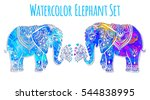 elephant color illustration... | Shutterstock .eps vector #544838995