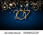 2017 happy new year background... | Shutterstock . vector #544842229