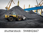 work in port coal transshipment ... | Shutterstock . vector #544842667