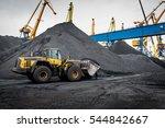 work in port coal transshipment ... | Shutterstock . vector #544842667