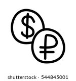 flat style currencies exchange...