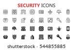 simple modern set of security... | Shutterstock .eps vector #544855885