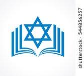 online torah or tanakh vector... | Shutterstock .eps vector #544856257