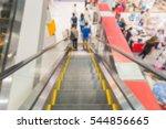 blurred motion on escalator in... | Shutterstock . vector #544856665