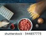 ingredients for spaghetti with...