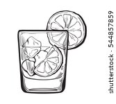 glass of gin  vodka  soda water ...   Shutterstock .eps vector #544857859