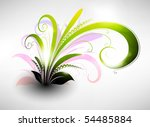 clean floral vector background | Shutterstock .eps vector #54485884