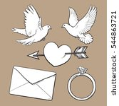 Wedding  Engagement Icon Set...
