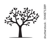 black tree. vector illustration | Shutterstock .eps vector #544871389