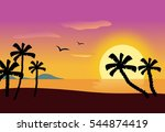 illustration of a tropical... | Shutterstock . vector #544874419