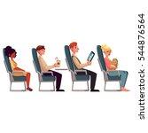 various passengers  man and... | Shutterstock .eps vector #544876564