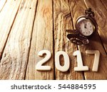happy new year 2017 alphabet on ... | Shutterstock . vector #544884595