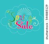 spring sale. colorful lettering ...   Shutterstock .eps vector #544885129
