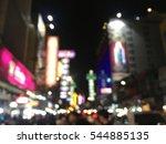 image of lighting at night city ... | Shutterstock . vector #544885135