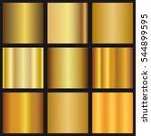 vector set of gold gradients... | Shutterstock .eps vector #544899595