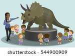 students kids children in the... | Shutterstock .eps vector #544900909