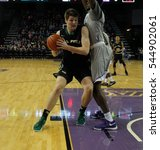 Small photo of 1 Aleks Abrams forward for the Cal Poly Stallions at GCU Arena in Phoenix AZ USA December 28,2016.