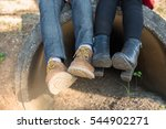 shoes of couple with bright... | Shutterstock . vector #544902271