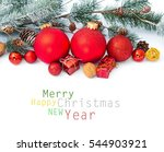 christmas decoration.... | Shutterstock . vector #544903921