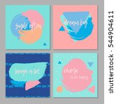 abstract template banner set...
