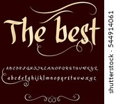 hand drawn typeface set named... | Shutterstock .eps vector #544914061