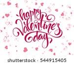 vector hand lettering... | Shutterstock .eps vector #544915405
