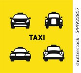 taxi various times  old and... | Shutterstock .eps vector #544922857