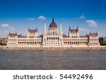 Parliament (Hungary-Budapest) - stock photo