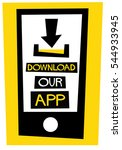 download our app  flat style...