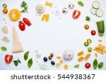 italian food concept .various... | Shutterstock . vector #544938367
