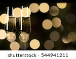 toast champagne    Shutterstock . vector #544941211