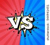 versus letters or vs logo... | Shutterstock . vector #544941451