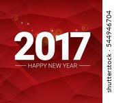 2017 happy new year creative... | Shutterstock .eps vector #544946704