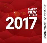 2017 happy new year creative... | Shutterstock .eps vector #544946719