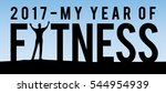 2017 my year of fitness new... | Shutterstock .eps vector #544954939