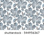 vintage style. tropical flowers ... | Shutterstock . vector #544956367