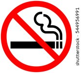 smoking not allowed sign. red... | Shutterstock . vector #544956991